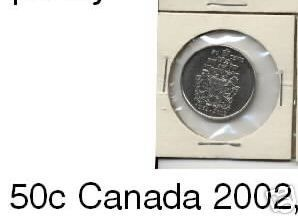 Canada 50 cent cents coin 2002