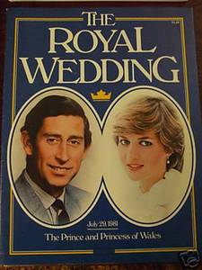 Prince & Princess of Wales Diana mag book Royal Wedding