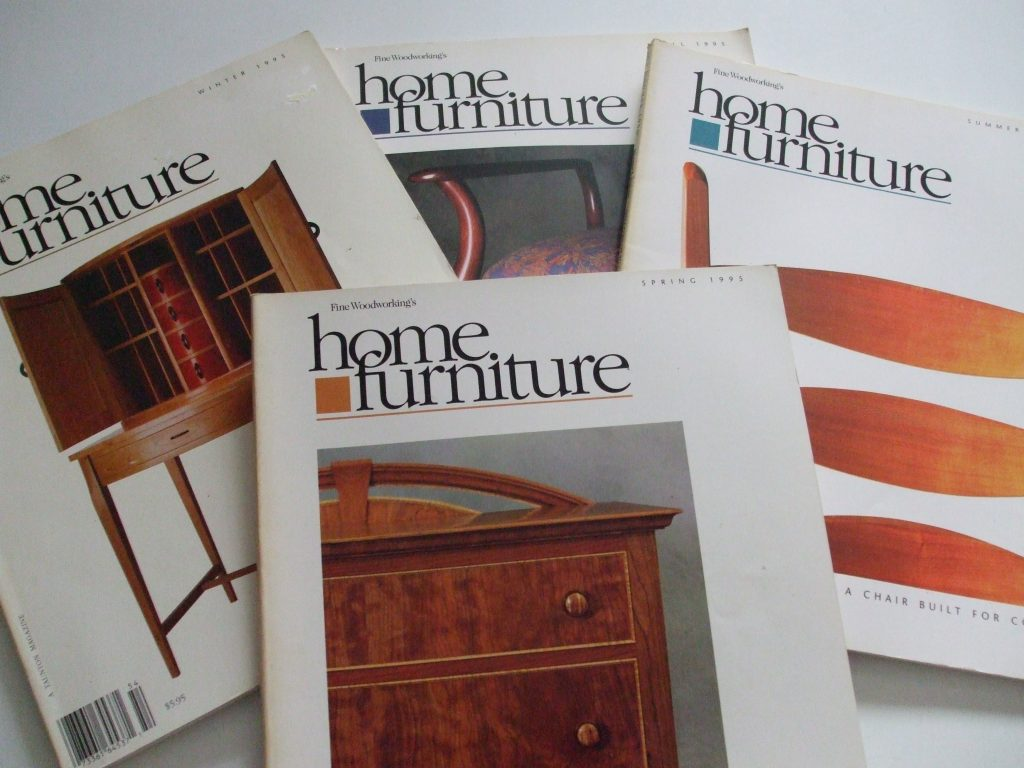 Home Furniture Fine Woodworkings 1995 Back Issues Taunton Magazine Prices Us Incl Ship Us Ontario