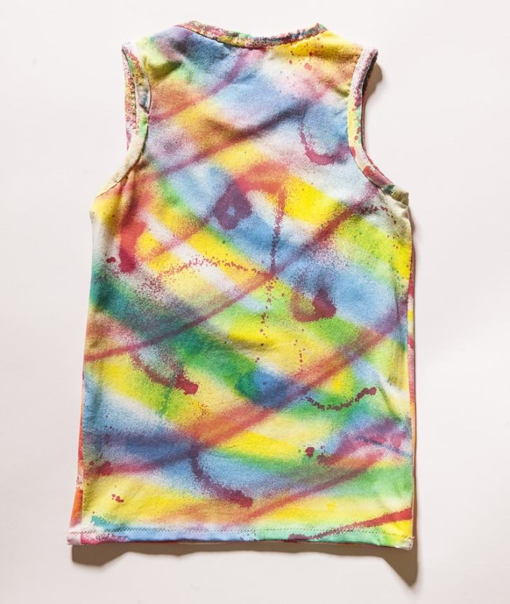 spray painting t-shirts
