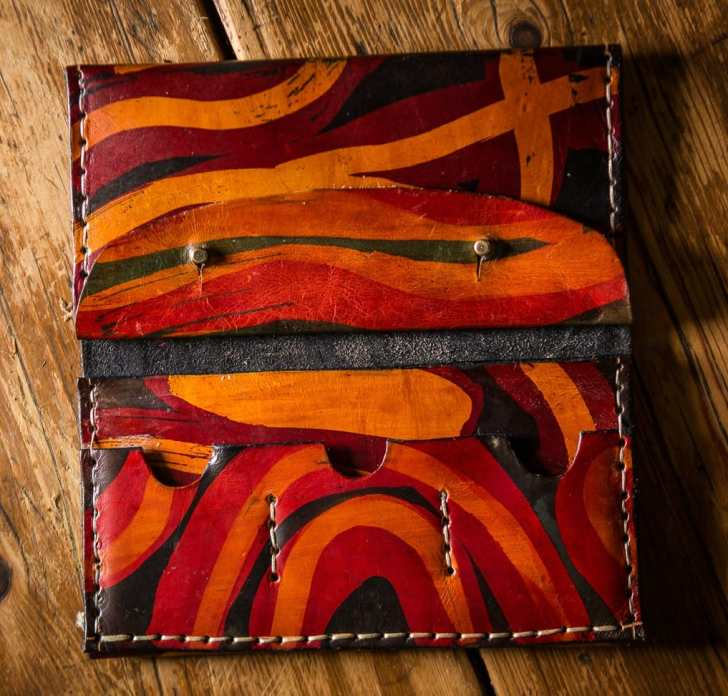 batik wallet open