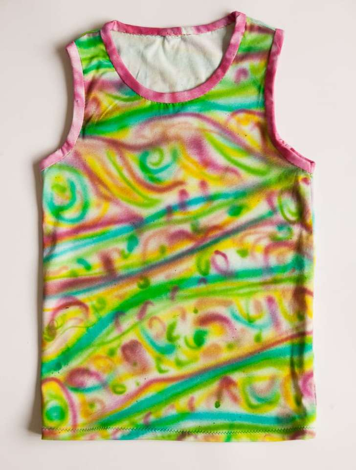 Airbrush painted tank top
