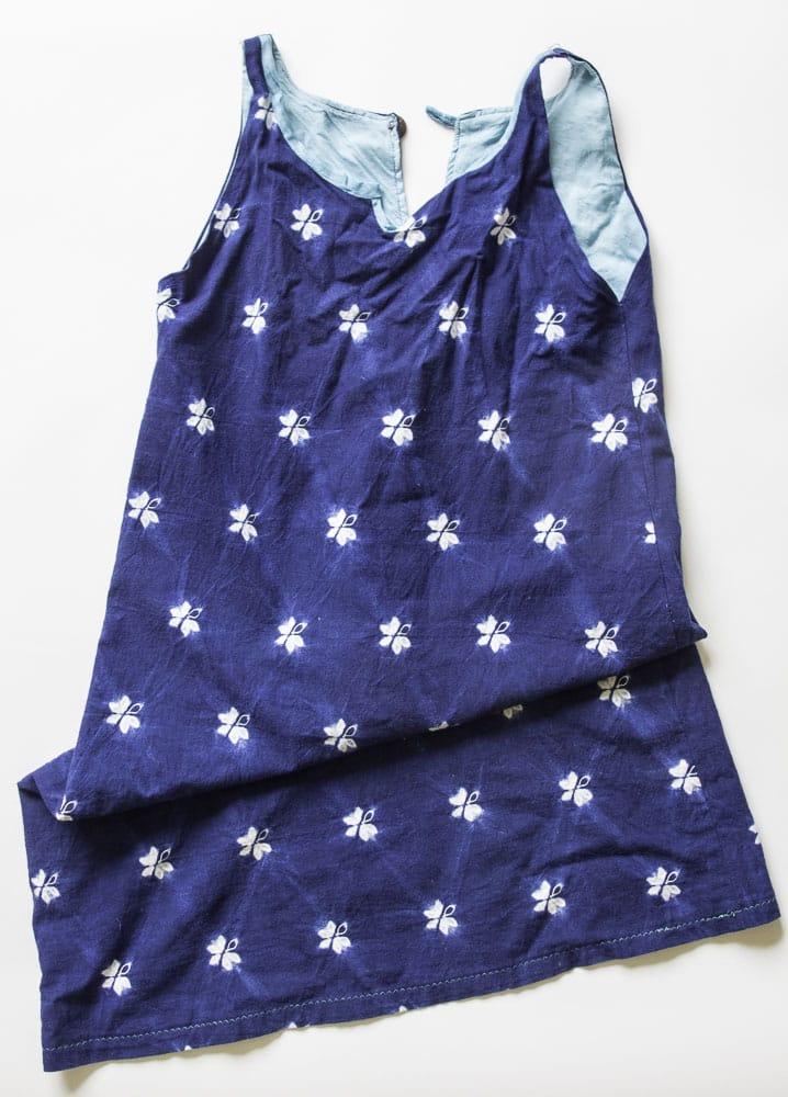 Indigo dyed dress