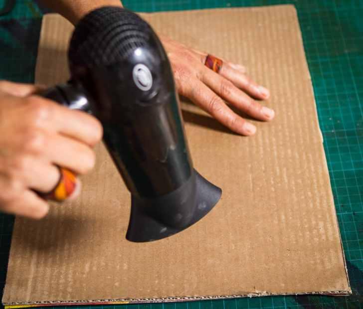 cardboard, waxing