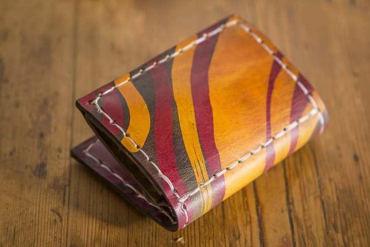 Batik Leather Wallet, back