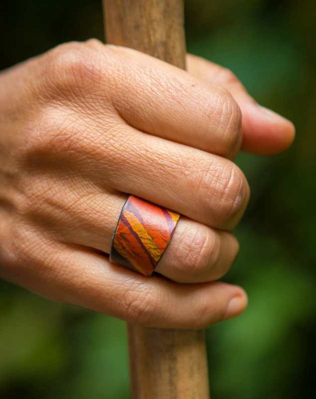 leather ring diy