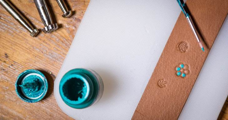 painting stamp impressions