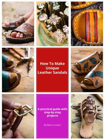 How to make leather sandals- eBook