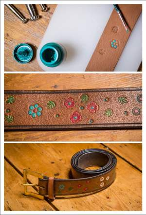 making a leather belt, tutorial