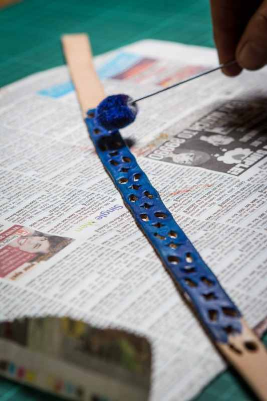 cut-out leather bracelet