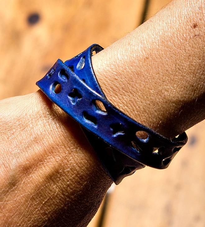 cut-out leather bracelet