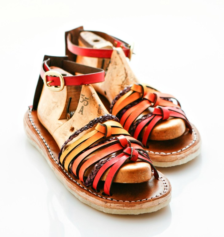 knotted straps sandals