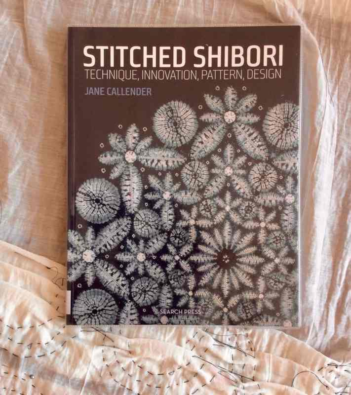 make stitched shibori flower
