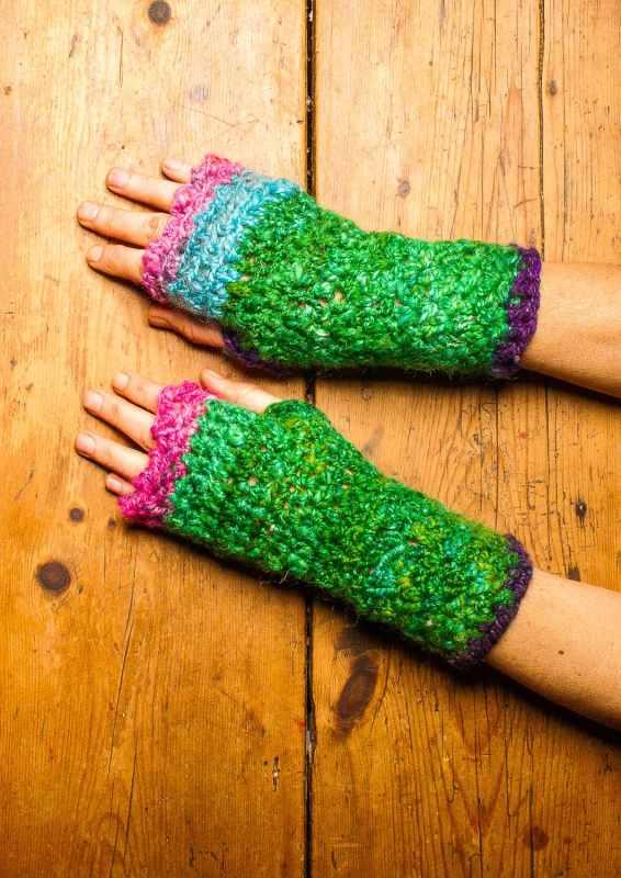 fingerless mittens crochet pattern