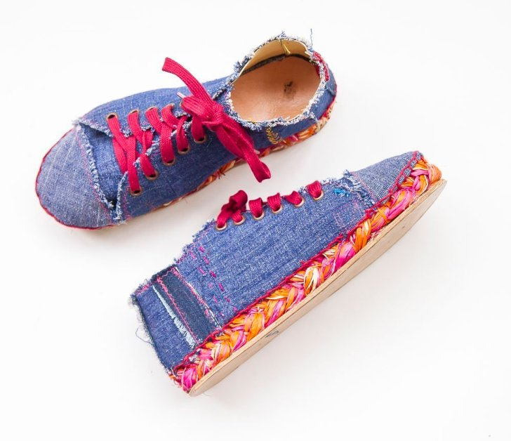 making sneaker style espadrilles
