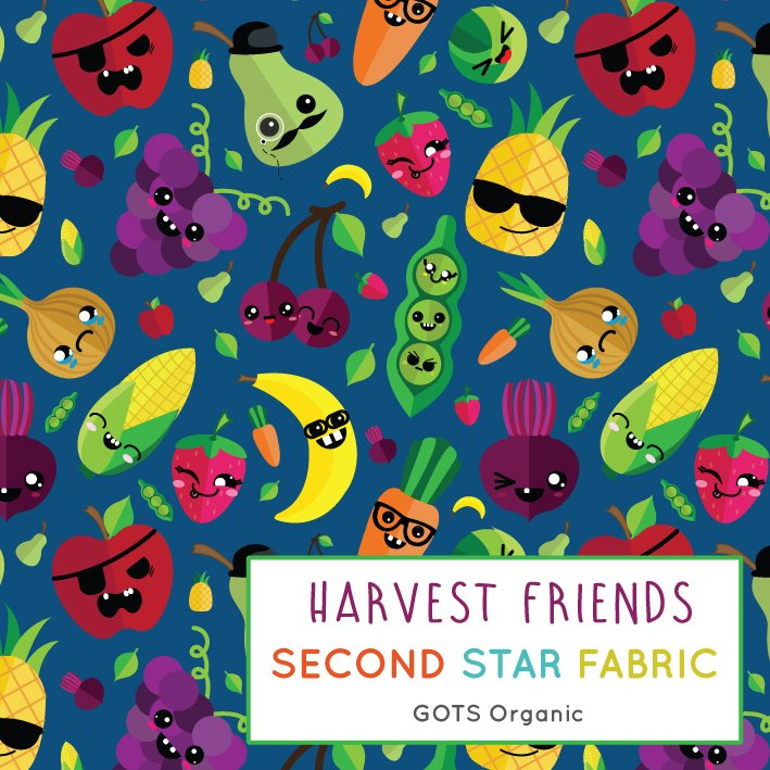 Fruit and vegetable jersey fabric