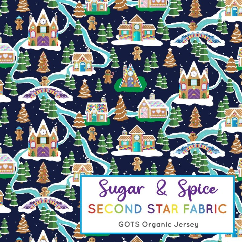 Gingerbread house fabric