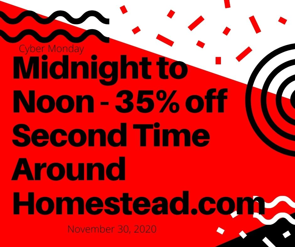red and black: Midnight til noon 35% off for Cyber Monday