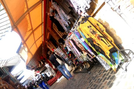 Camden Market clothes stalls