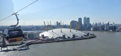 View across O2 and Financial District