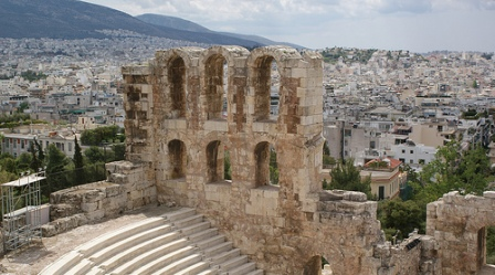 view over Acropolis and Athens