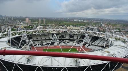 view over olympic stadium london