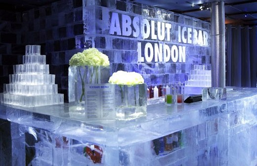 Ice bar from the inside