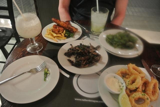 Tapas in Barcelona restaurant