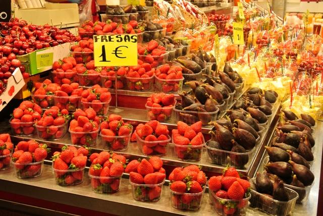 fruits at La Boqueria market