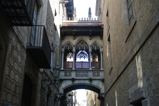 Gothic quarter in Barcelona