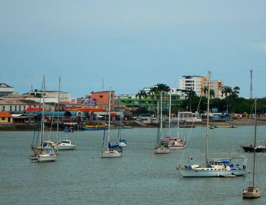 harbour of Bahia in Ecuador