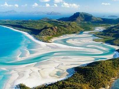 view over whitehaven beach