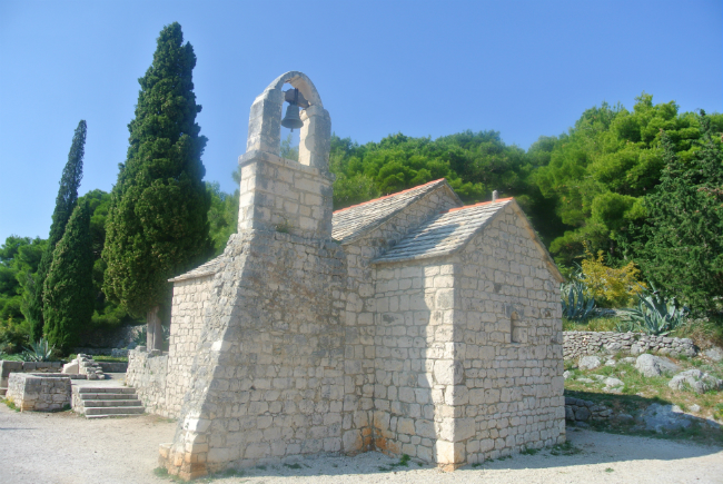 church in barjan park in split