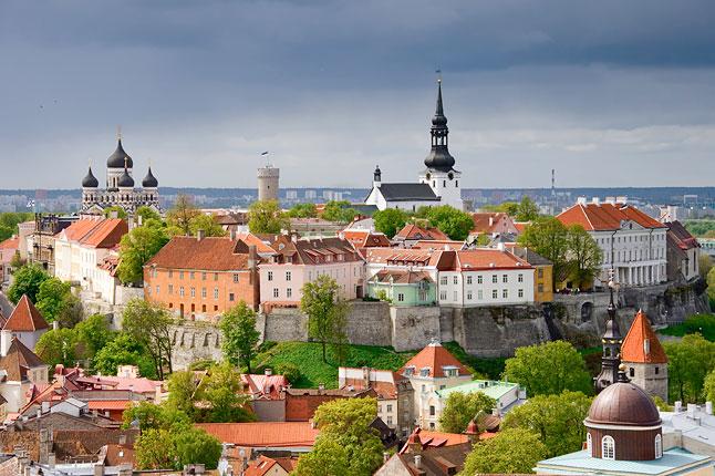 view over Tallinn in Estonia