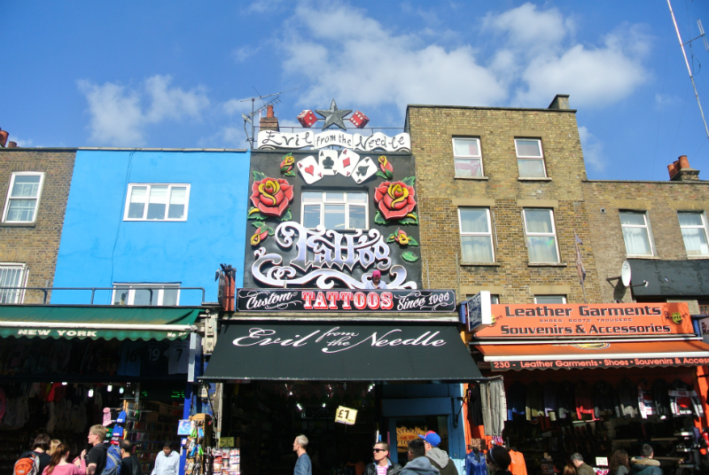 Tattoo shop in Camden