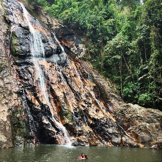 Na Muang waterfalls in Koh Samui