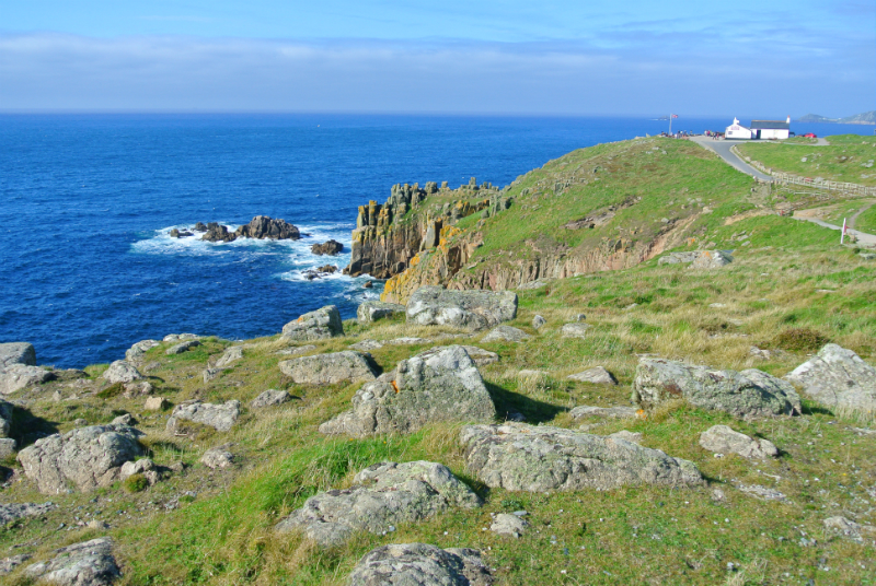 Lands end in Cornwall UK