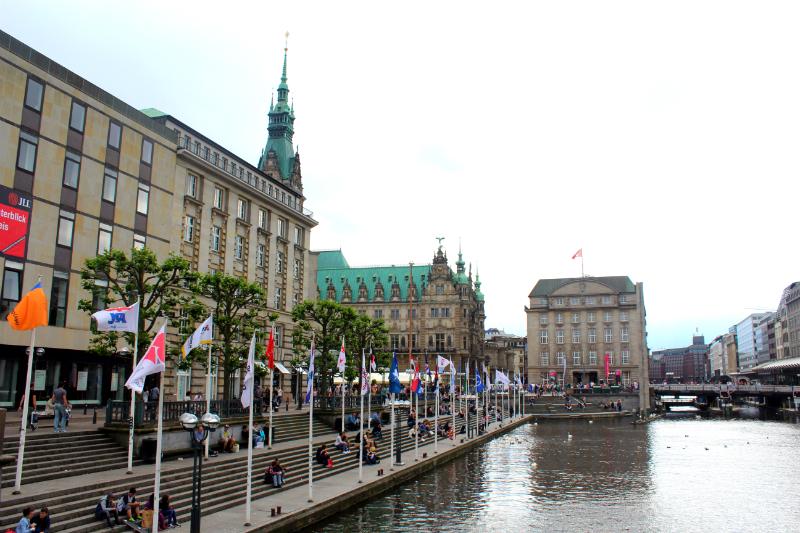 Jungfernstieg in Hamburg