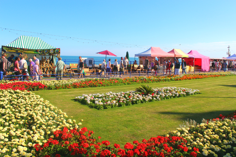 Eastbourne promenade in England