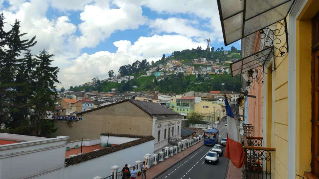 View from the Hump Day Hostel in Quito