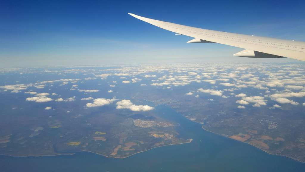 View over South Coast of UK