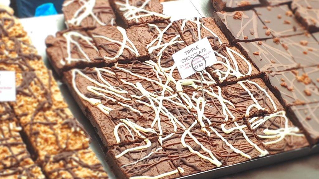 Brownies at Broadway Market London