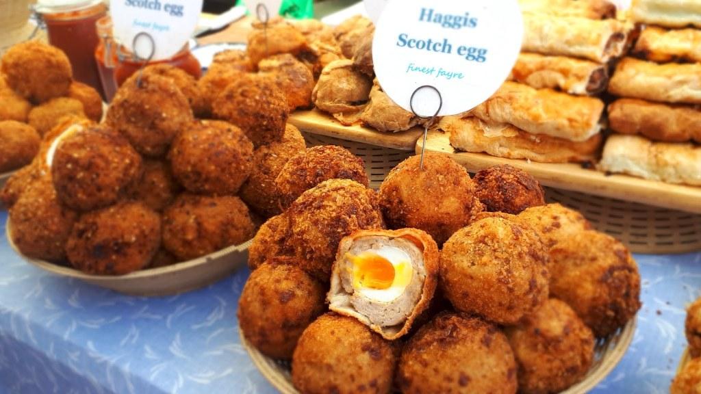 Scotch eggs at Broadway Market London