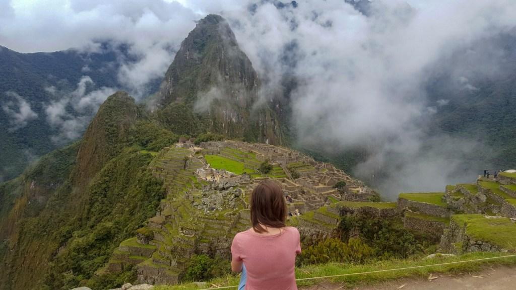 view over Machu Picchu