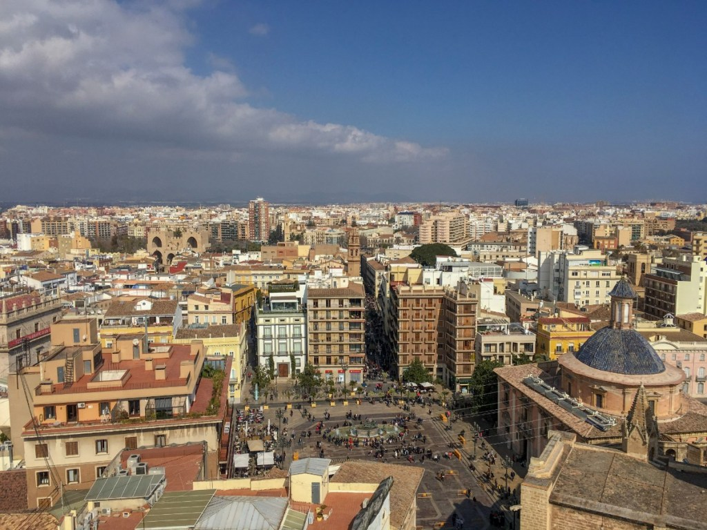 Views from Micalet tower in Valencia