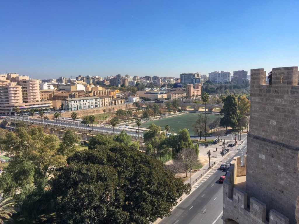 View from Torres de Serranos in Valencia