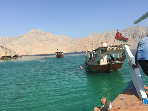 Khasab Oman Musandam - Dhow Boot Fahrt, Delfine und schnorcheln