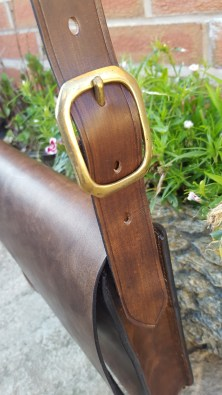 The finished strap and buckle in place