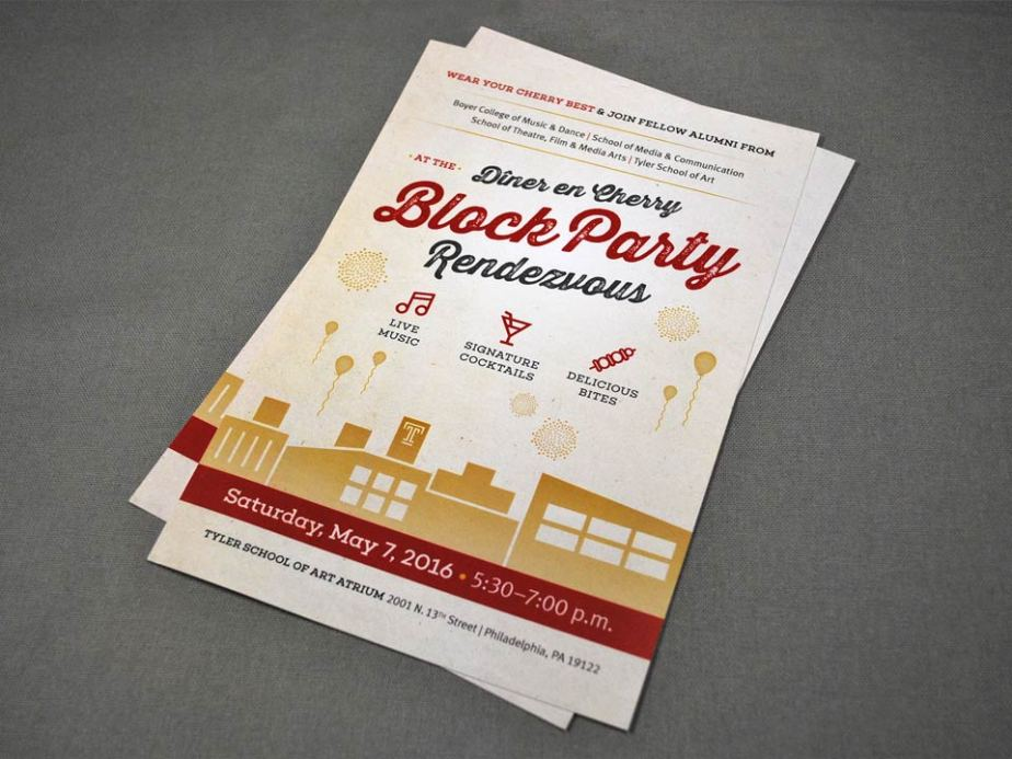 Block Party Rendezvous Postcard Design