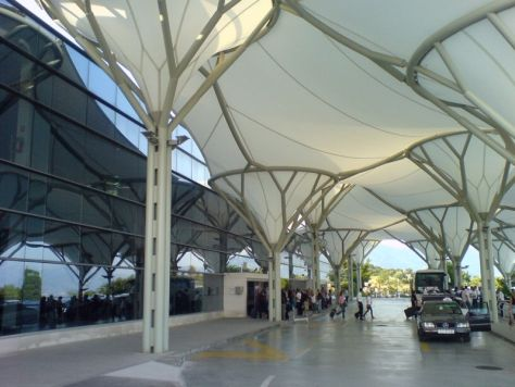 Terminal entrance at Split Airport